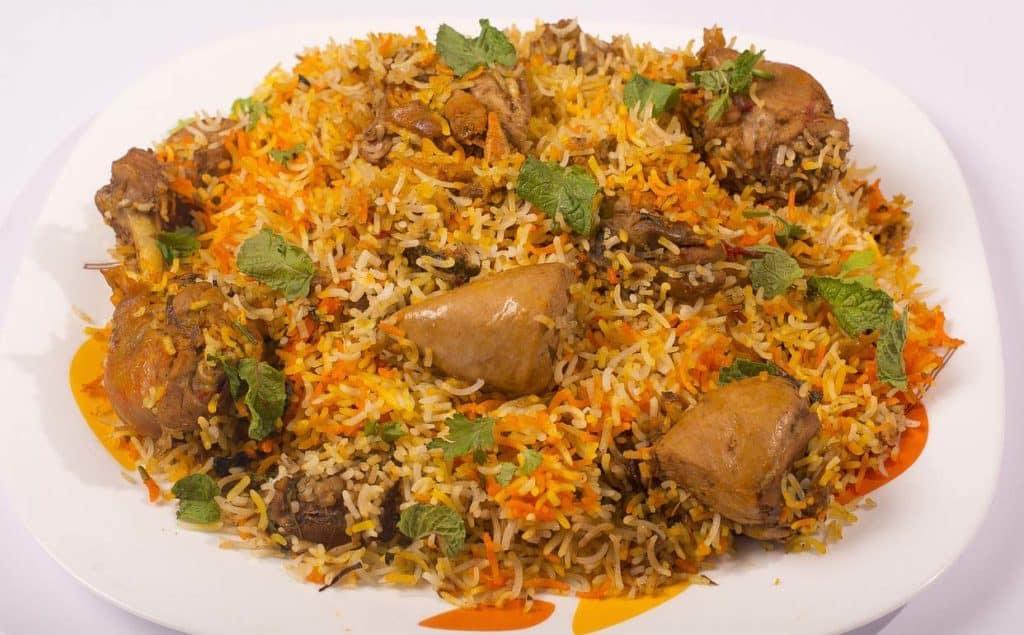 Traditional chicken biryani recipe